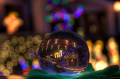 Christmas Lights Through The Looking Glass [Explored!] (Terry Aldhizer) Tags: christmas night ball lights long exposure crystal roanoke terry virgina westover aldhizer terryaldhizercom