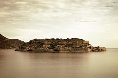 Kalydon Gold (Mark Stoeffler) Tags: old landscape island greek coast gulf greece coastal plaka crete historical venetian ottoman fortress spinalonga cretan elounda lepercolony kalydon gulfofelounda