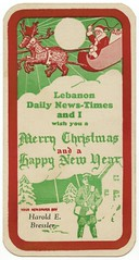 Lebanon Daily News-Times and I Wish You a Merry Christmas (Alan Mays) Tags: santa christmas xmas old trees houses red lebanon snow green boys vintage ads advertising children stars reindeer toys typography holidays pennsylvania antique newspapers hats beards newyear ephemera antlers pa presents type santaclaus moons bags advertisements typefaces bressler carriers paperboys sleighs lebanoncounty blotters inkblotters newstimes newspaperboys haroldebressler dailynewstimes addedtoip