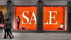 Sale in window