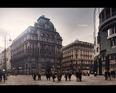 "Vienna ""Stephansplatz"" (Photofreaks) Tags: vienna wien park old city travel school summer vacation sky sculpture white building art clock tourism church monument fountain statue architecture sunrise square geotagged outdoors austria town hall sterreich spring gate europe european day catholic cityscape place cathedral gothic landmark palace historic christian spanish riding imperial historical stephansdom innercity mozart danube strauss hofburg donau ststephenscathedral stephansplatz haashaus habsburg franzjosephi amgraben empresselisabethofaustria adengs wwwphotofreaksws shopphotofreaksws geo:lat=48208207 geo:lon=1637185"