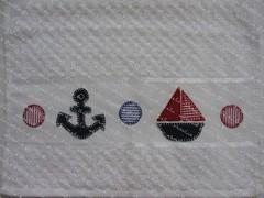 Toalha de Mão (Golla & Zolla) Tags: bebê toalha patchwork presente náutico toalhinha enxoval patchcolagem toalhademão patchaplique