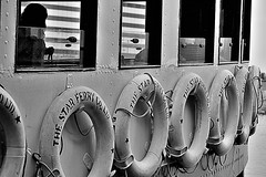 The Star Ferry Company, Limited. (XavierParis) Tags: china sea blackandwhite bw mer white blancoynegro blanco ferry hongkong boat mar nikon asia noir barco noiretblanc negro nb asie xavier bateau lifebuoy xavi blanc chine salvavidas iberica boue d700 xavierhernandez xyber75 xavierhernandeziberica