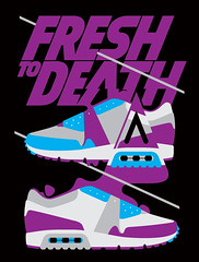 Fresh to death, AnyForty Clothing (Dmitri Aske) Tags: illustration sneakers 2009 aske sicksystems anyforty