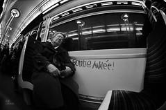 bonne année ! (c'estlavie!) Tags: people urban blackandwhite white black paris france subway noiretblanc metro candid métro français happynewyear parisienne rapt parisunderground métroparisien bonneannée jesuisparis