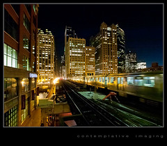 looking towards the loop (contemplative imaging) Tags: city railroad bridge autumn urban usa chicago building fall station skyline architecture night digital america train buildings river photography evening photo office illinois big midwest downtown december cta image loop photos dusk platform structures railway trains wells el images canyon structure architectural il passengers clear ill american transit l commuter imaging passenger elevated friday rapid merchandisemart commuters rivernorth chicagotransitauthority wellsstreet midwestern 2011 olysg918 contemplativeimaging ronzack lumgh1 20111209 ci20111209gh1chi