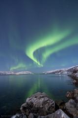 Aurora borealis (B_Olsen) Tags: norway reflections northernlights auroraborealis 2012 troms nordlys kvalya polarlicht norwegianfjord nikond90 simavika berntolsen ginordicjan12 tokinapro1116mm