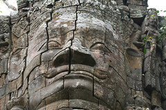 Face at Bayon temple in Angkor Wat, Cambodia. (cookiesound) Tags: trip travel summer vacation tree canon temple photography cambodia kambodscha angkorwat jungle angkor canoneos reise tempel travelphotography traveldiary reisefotografie reisetagebuch cookiesound nisamaier ullimaier