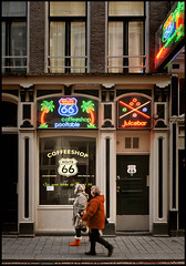 Get your kicks at Route 66 ! (martin alberts1) Tags: amsterdam route66 redlightdistrict hash coffeeshops canabis wiet softdrugs koffieshops martinalberts coffeeshoproute66 warmoesstraat77
