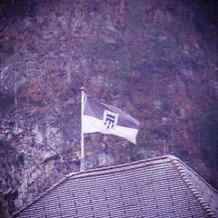 Wave Your Flag (speed3d) Tags: old city roof castle film canon square photography eos james feldkirch holga lomo over magenta oldschool retro bond vignette tops 007 1x1 lightroom 600d