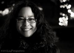 Paula at night in black & white (The Lazy Photographr) Tags: street portrait people urban toronto ontario canada blackwhite lakeontario tamron1750f28 torontophotowalks canont2i topwwt