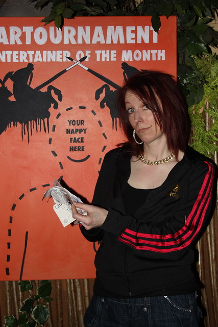 the Hilarious Claire Nelson was our audience voted £100 cash winner.