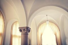 Arcs (David Fahlberg) Tags: old light white castle pillar arc curtains pillars arcs