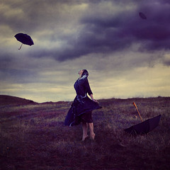where the storm goes (brookeshaden) Tags: mountain storm water field rain clouds surrealism umbrellas fineartphotography brookeshaden texturebylesbrumes