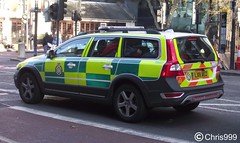 London Ambulance Service - LX11 AEZ (Chris' Transport Pics) Tags: life road uk blue light england london film car speed hospital lights volvo bars pix fuji traffic threatening united fine 911 blues samsung kingdom ambulance medical health national nhs finepix trust and fujifilm service hd saving emergency medic paramedic savers 112 rapid euston siren response 999 twos strobes xc70 lightbars rrv rotators vluu pl81 pl90 sl630 leds s2750 lx11aez