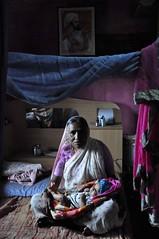 Grandmother (Mayur Kakade) Tags: baby india house home asian parents nikon asia grandmother indian grandson maharashtra ahmednagar care saree windowlight pinkblue shivaji d90