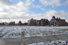 Edmund Place where homes once stood (themaskedman55) Tags: park old winter house tower century anne downtown metro detroit january victorian ruin brush queen age empire second restored mansion gilded 19th edmund nineteenth alred