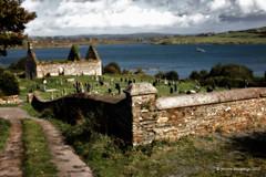 Dn na Sad (Jerome Pouysegu) Tags: ocean ireland sea mer cemetery bay boat ngc ruin baltimore ruine 5d celtic aground bateau seashore ran cimetiere irlande baie celtique echou