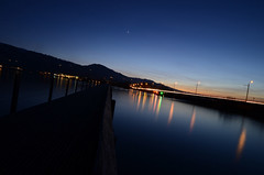 once upon a time (goerdie_l. on the slow photo road) Tags: bridge night schweiz switzerland dusk rapperswil zürichsee polestar lakeofzurich woodenbrigde cantonofschwyz pilgrimspathway