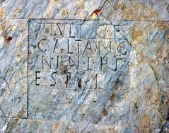 Epgrafe romana, xisto (Paulo Heitlinger, tipografos.net) Tags: slate versalien xisto versais museudevora epgraferomana