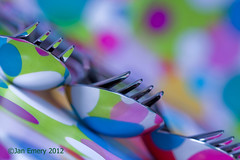 Forks and Spoons! ( explored ) (Jamarem) Tags: stilllife 3 macro reflection closeup creativity colours fork spoon vale colourful forks cutlery spoons tableware week3 canonef100mmf28macrousm robertwelch canon50d view52 artistpicks jamarem rs80n3remoteswitch view52week