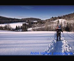 Station touristique de la Montagne Coupe (inde07 (Andr Veilleux)) Tags: winter snow canon hiver qubec neige raquettes lanaudire
