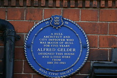 Photo of Alfred Gelder blue plaque