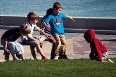 Pure Joy! (puthoOr photOgraphy) Tags: playing kids children corniche dk lightroom westbay kidsplaying dohaqatar d90 adobelightroom lightroom3 amazingqatar puthoor cornicheofdoha