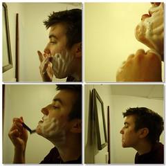 Shaving (mosaic) (Nina A. J. G.) Tags: fdsflickrtoys mosaic transgender lgbt shaving transition gender transsexual ftm genderidentity transman