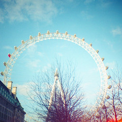 London Eye (Irene Stylianou) Tags: uk greatbritain trees england london film analog 35mm mediumformat square lomo lomography toycamera londoneye bluesky diana squareformat ferriswheel 24mm analogphotography touristattraction 100asa lomocamera 100iso filmphotography lomographic colorfilm 24mmlens lomographyfilm lomographydianamini dianamini lomographycn100 lomographycolornegative100 irenestylianou
