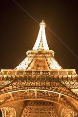 Torre Eiffel de Noche (CURZU@) Tags: paris france luz canon eos luces noche europa torre eiffel torreeiffel francia canoneos 50d eos50d canoneos50d canon50d ciudadluz panoramafotogrfico torreeiffeliluminada