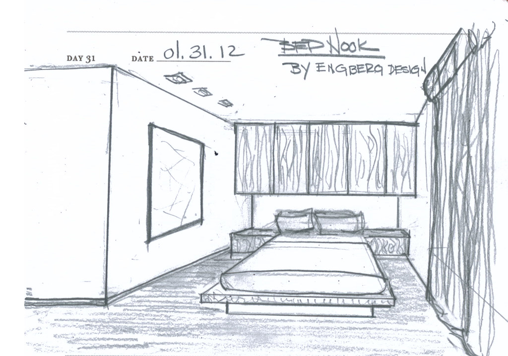 The world 39 s best photos of sketch and sketchproblem366 for Bedroom designs sketch