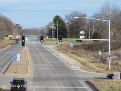 West end of Business US 61 from I-280 (iowahighways) Tags: davenport shields interchange i280 riverdrive us61 scottcounty businessus61