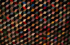 Cubic Quilt (peterkelly) Tags: toronto ontario canada digital design quilt silk velvet cube northamerica ribbon rom royalontariomuseum 1870s babyblock brocades