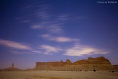 Tuwaiq Mountains (TARIQ-M) Tags: longexposure tree stars landscape star desert mount riyadh saudiarabia    canoneos5d              ef1635mmf28liiusm canoneos5dmarkii     tuwaiq tuwaiqmountains