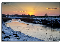 2012-366-37Rother sunset ........... (pete stone) Tags: sunset snow ice kent eastsussex day37 riverrother canoneos5d cloudsandsky newenden skyascanvas