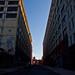 Sun Line on Building - Vinegar Hill, Brooklyn
