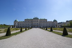 Inviting alley (Olivier So) Tags: vienna austria palace belvedere schlossbelvedere