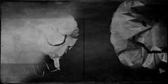 Possess(ed)-5008 (Poetic Medium) Tags: blackandwhite stilllife diptych ipod personal balloon happyface possession mextures kitcamghostbird