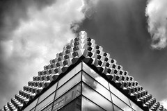 it is not a pyramid (Goddl) Tags: sky white black reflection architecture clouds himmel wolken architektur weiss spiegelung schwarz