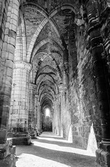 Kirkstall Abbey (Jan Scherks) Tags: bw abbey leeds kirkstall