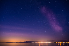 Morning (~138~) Tags: longexposure morning light sky orange canada lightpainting abstract black colour art colors night ball dark stars fun lights cool nightlights bc purple dusk awesome vancouverisland dome paintingwithlight trippy streaks milkyway lightart lightpaint singleexposure