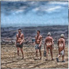 Beach Life (FotoFling Scotland) Tags: male beach pecs hat grancanaria nude sand nudist maspalomas instagram