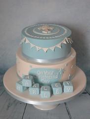 Christening Cake - blues (Kennet House Cakes) Tags: blue white cross bricks christening blocks christeningcake