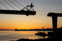Queensferry Crossing North Tower at Sunset 20-04-2016 (The McCorristons) Tags: sunset forth queensferry riverforth dockyard rosyth rosythdockyard queensferrycrossing