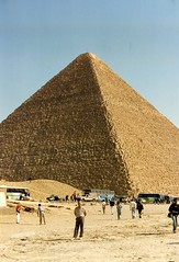 1992 - Lower Egypt - Giza and Sphinx (bellrockman2011) Tags: sphinx egypt nile cairo temples pyramids aswan khufu antiquities loweregypt phaorah