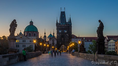 The famous and historic Charles Bridge, Prague (VCD.) Tags: longexposure monument night nightshot czech prague famous historic charlesbridge vcd