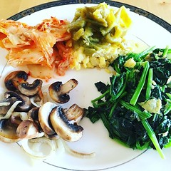 Lunch... Kimchi, roasted and fermented green... (Mikey Sklar & Wendy Tremayne) Tags: newmexico vegetarian lowcarb paleo glutenfree greenchile ketogenic slowcarb uploaded:by=flickstagram instagram:photo=1187400428043582859804953022