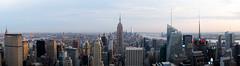 Panorama (kevinoconnor1000) Tags: new york city nyc urban newyork skyline architecture long exposure fuji state dusk empire fujifilm empirestatebuilding empirestate x100 fujix fujix100s fujifilmx100s