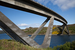 Kylesku Bridge, Sutherland, Scotland (David May) Tags: road geometric ferry concrete coast highlands highway box north angles network loch 500 railings girder roadway supports caolas prestressed glendhu cumhann nc500 lochachairn kykestrome